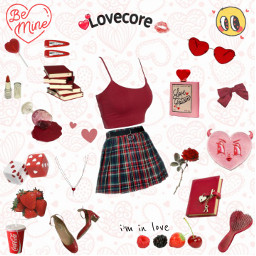 freetoedit love lovecore red redaesthetic aesthetic edit pngfreetoedit png clothes style