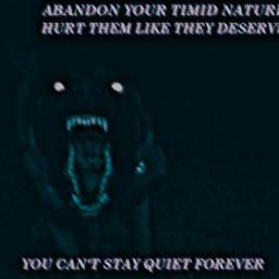 hellhound demon revenge shepherd teeth freetoedit