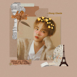 brown vintage aesthetic kpop icon nct chenle freetoedit
