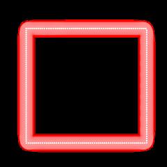 freetoedit neon glow red square