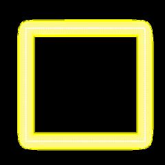 freetoedit neon glow yellow square