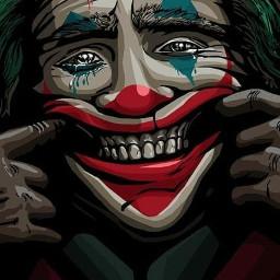 joker smile clown bad good