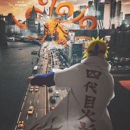 aesthetic minato minatonamikaze kurama kyubi naruto naruto_shippuden