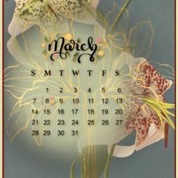 march calendar lily flower spring flora stamen month srcmarchcalendar2021 marchcalendar2021 freetoedit