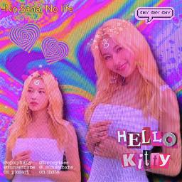 sana sanatwice twice kpop aesthetic neon indie collab