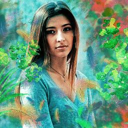 picsart multicolor flowers interesting girl beautifuledit amazing myedit creative inspiration remixit remixed