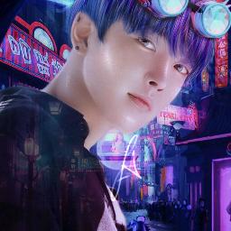 hongjoong ateez ateezhongjoong hongjoongateez joong kpop ateezkpop kpopateez manipulation ateezmanipulation manipulationedit neon