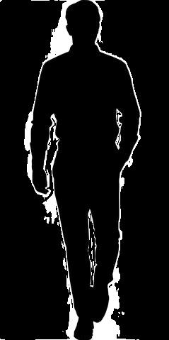 man black walking freetoedit