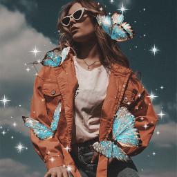 butterflies fashionphotogrpahy 3d 3deffect sparkle aesthetic freetoedit