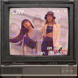 oldphoto old oldtvs oldtv girl tv play freetoedit