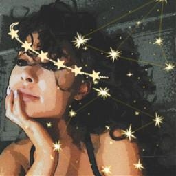 ariana grande arianagrande aesthetic halo angel angelcore sparkle addisonrae glitter stars zodiac galaxy natural beauty hair love positive vibes aestheticstars vintage cartoon heypicsart picsart nails freetoedit