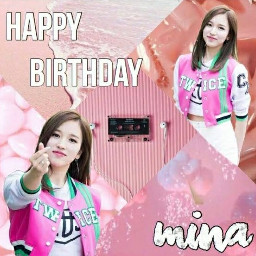 twicemina happybirthday