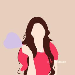 freetoedit wangyiren everglow draw drawing girl love kpop