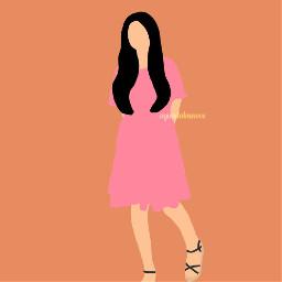 freetoedit girl girly pink feminime love art draw aesthetic
