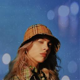 billieeilish blueskies blue sunset sun vogue louisvitton hat