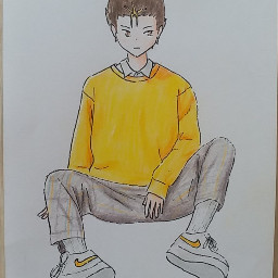 nishinoya yuu nishinoyayuu yuunishinoya haikyuu hq anime animeboy animedrawing animedraw animeart
