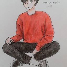 kuroo tetsurou kurootetsurou tetsuroukuroo haikyuu hq nekoma anime animeboy animedraw animedrawing animeart