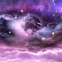 galaxy planet moon galaxybackground galaxies freetoedit