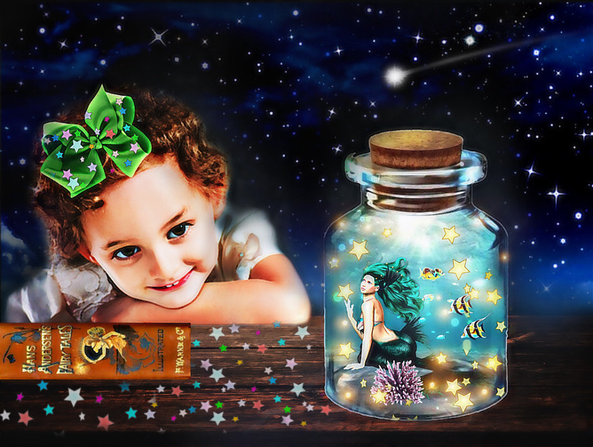#cutestarsbackgroundremixchallenge #mermaidsandnightwishes #hanschristianandersen #fairytales #childsimagination #mermaids #underthesea #stars #nightsky #jar #fishswimming #shootingstar #bookoffairytales #book ✨🧜🏼♀️🌊🐠📚✨