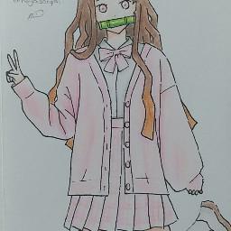 nezuko nezukochan kamado nezukokamado kamadonezuko demonslayer ds kimetsunoyaiba kny anime animegirl animedraw animedrawing animeart its1rts- its1rts