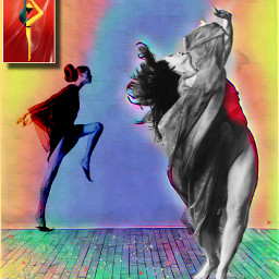 artistic dance effects colorful