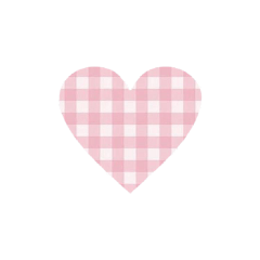 heart sticker stickers plaid pink freetoedit