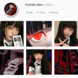 instagram template kakegurui instagramaesthetic aesthetic replay edit japan birthday aestheticedit instagramtemplate freetoedit