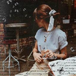freetoedit vintage aesthetic vintageaesthetic girl srchandwrittenbackground