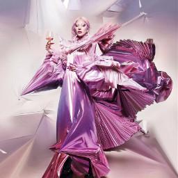 ladygaga hauslabs makeup pink woman dress chromatica arianagrande music colours party art rainonme