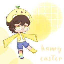 edit gacha gachaclub gachaedit easter happy happyeaster happyeaster2021 2021 holiday yellow white circle chick baby cute