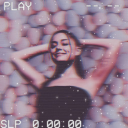 freetoedit arianagrande aesthetic vintage retro makeawesome picsart wallpaper background pinkaesthetic vcr vhstape waveeffect replay remixit remixme