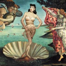 freetoedit venus birthofvenus botticelli paint