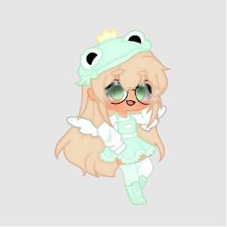 editrequest edit gacha gachaclub gachaedit frog mint green oc