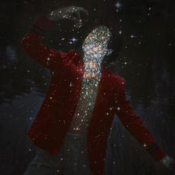 freetoedit butterfly dress purple glitter glittercloud galaxy stars star edit replay