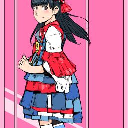 drawing girl freetoedit 私立恵比寿中学