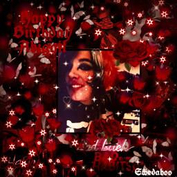 freetoedit birthday red redaesthetic black