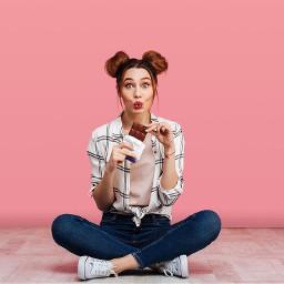 freetoedit freetoremix girl women lasy chocolate photography model