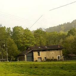 baserria landscape outdoors rurallife fog