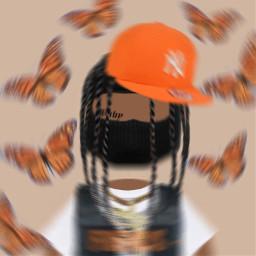 gangs gangster gangsta orange drippy brands bandz stylish mad freetoedit