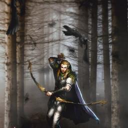 dark forest fantasy character imagination freetoedit crows madewithpicsart heypicsart colochis89 i unsplash colochis89