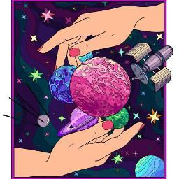 space galaxy cosmos hands surreal freetoedit