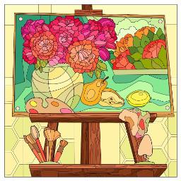 painting stilllife flowers fruit freetoedit