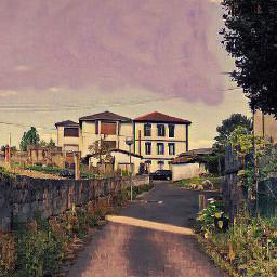 village arteffects goldenhour euskalherria architecture