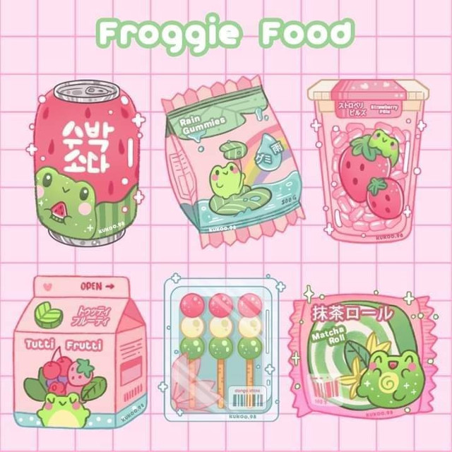 #food #drink #packs #candy #sweets #art #picsart #pink #green #kawaii #anime #kpop #cute #cutie #soft #frog #froggy #froggies #froggie #sweet #sweets #japanese #japanesefood #kiddie #kidcore