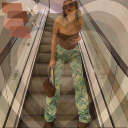 brown brownaesthetic interesting 70s steps art photography summer fashion swag fancy chunky sunglasses butterfly butterflies aesthetic green style pose fotoshot hot motion purse luciamoon srcsimplepaintsroke simplepaintsroke freetoedit