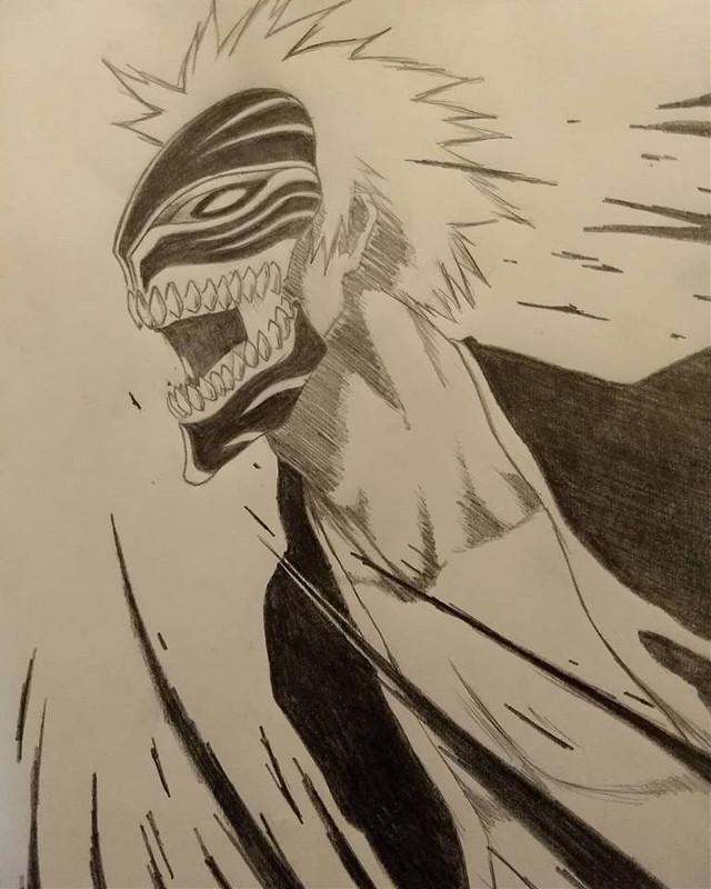-open-   Hey first drawing in a while :) ☢️who - Ichigo Kurosaki ☢️from - bleach ☢️time taken - 3:30  I has a stomach ache :(  #bleach #ichigo