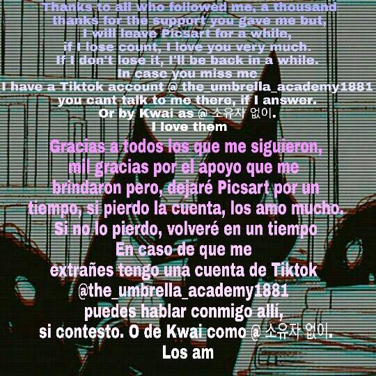 Los amo 😘💕// I love them😘💕 #imsad  Kwai: @소유자없이 Tik Tok: @the_umbrella_academy1881