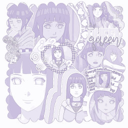 hinatahyuga naruto anime manga overlay purple edit aesthetic freetoedit