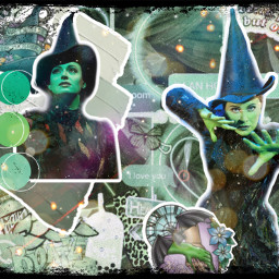 green black elphaba elphabawickedwitch wicked wickedwitch wickedwitchofthewest freetoedit