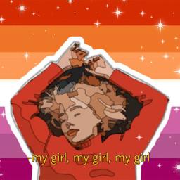 girlinred lesbian lgbtqia lgbtq lesbean lesbianpride freetoedit